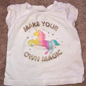 Carter's Matching Sets - Carter's Unicorn Girls Shirt & Skirt Outfit 12 m
